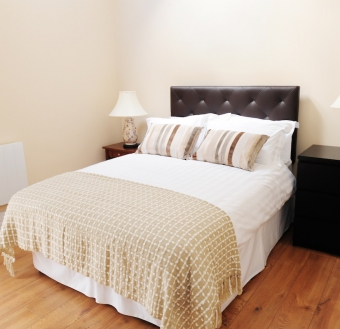 The main bedroom in the Mews at Sheephouse Country Courtyard Self Catering Accommodation